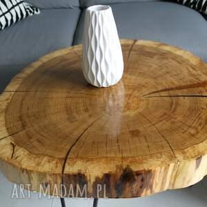 design stoły stolik kawowy plaster drewna