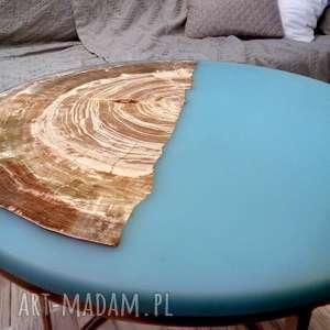 żywica epoksydowa stoły turkusowe stolik kawowy topolowy