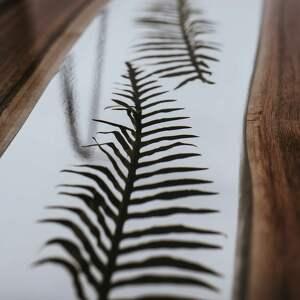 brązowe stoły stolik z-żywicą kawowy orzechowy z motywem