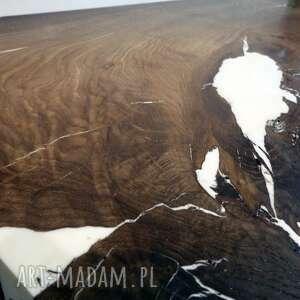 drewniany stolik stoły kawowy z czarnego dębu