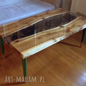 intrygujące stoły stolik z-mchem kawowy/ława, orzech włoski