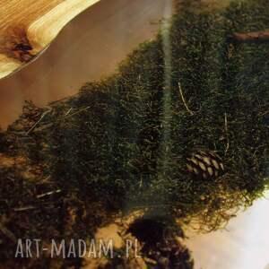 stolik z-mchem stoły zielone kawowy/ława, orzech włoski