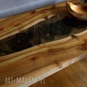 intrygujące stoły żywica epoksydowa stolik kawowy/ława, orzech włoski