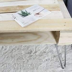 stoły minimalistyczny stolik mangabe, industrialny