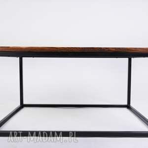 stoły: stolik okapi - drewno z upcyclingu, minimalistyczny, designerski, do loftu