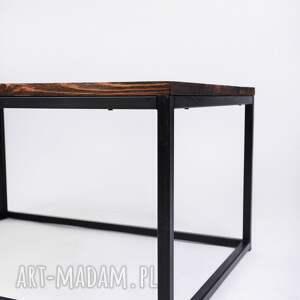 minimalistyczny stoły stolik okapi - drewno z upcyclingu