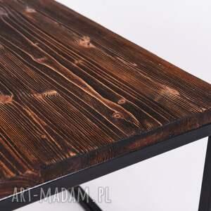 stoły minimalistyczny stolik okapi - drewno z upcyclingu