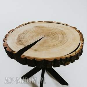 czarne stoły stolik z-plastra okrągły topolowy z plastra