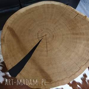 żywica stoły beżowe stolik plaster drzewa dębu