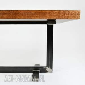złote stoły minimalistyczny stolik twiga industrialny, do loftu