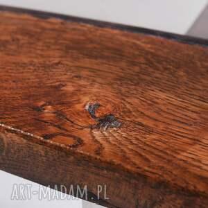 hand made stoły designerski stolik wimbi dąb szkło i stal