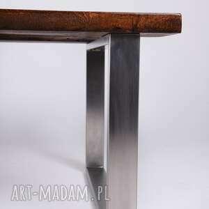stoły designerski stolik wimbi dąb szkło i stal