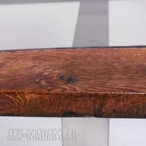 designerski stoły stolik wimbi dąb szkło i stal