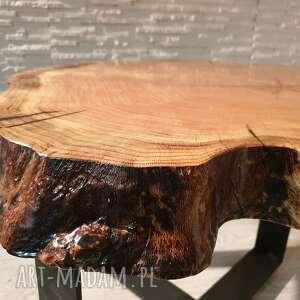 drewno stoły brązowe stolik z plastra drewna