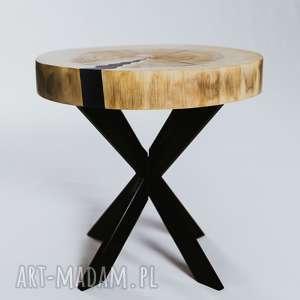 stoły stolik z-plastra drewna z plastra topoli z niebieską