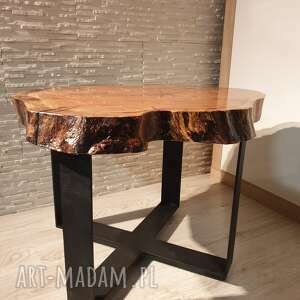 stoły stolik z plastra drewna
