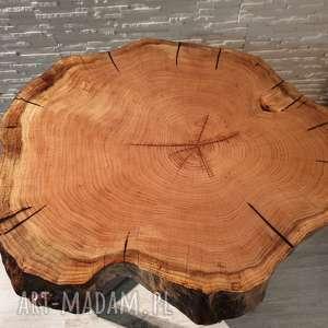wyjątkowe stoły stolik z plastra drewna