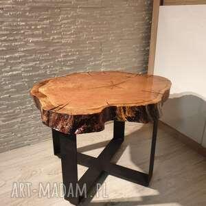 Sciete i pociete Stolik z plastra drewna z żywicy - hand made