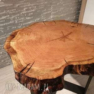 wyjątkowe stoły drewno stolik z plastra drewna
