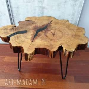 stoły drewno stolik z plastra drewna