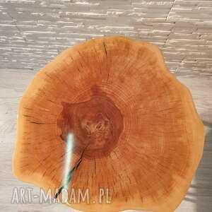 beżowe stoły drewno stolik z żywicy epoksydowej