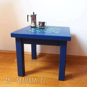 stolik stoły warcaby kawowy kobaltowy