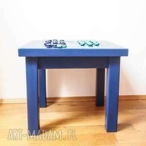 hand-made stoły stół warcaby stolik kawowy kobaltowy