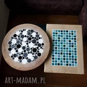 niepowtarzalne stoły ceramika white & black - stolik kawowy