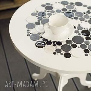 niepowtarzalne stoły stół white & black - stolik kawowy