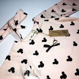 oryginalne sukienka sukieneczka myszki z opaską
