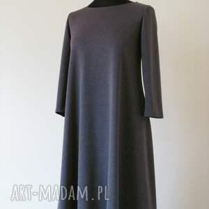 unikatowe sukienki sukienka 7 - ciemno szara