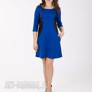 niebieskie sukienki sukienka abi z bokami
