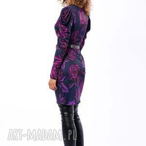 fioletowe sukienki awangardowa alexis magic rose