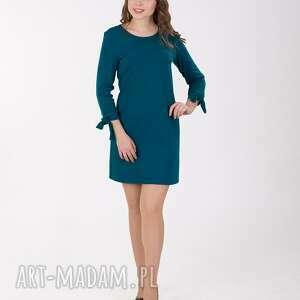 sukienka sukienki zielone ana z wiązaniem przy