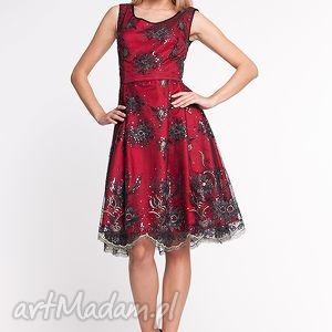 szare sukienki koronka apollina - sukienka