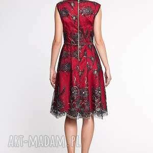 moda sukienki czerwone apollina - sukienka