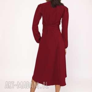 sukienki midi asymetryczna, kopertowa sukienka