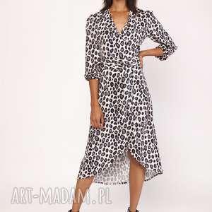 trendy sukienki sukienka asymetryczna, kopertowa