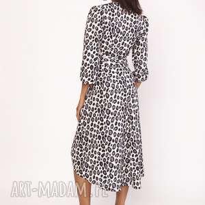 sukienki wiązana asymetryczna, kopertowa sukienka