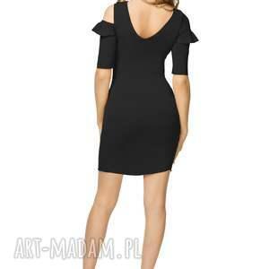 cb3ea0fb2838 ciekawe sukienki - bawełniana sukienka z odkrytymi ramionami t180
