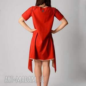 sukienki przewiewna bawełniana sukienka z dłuższymi