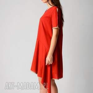 sukienki przewiewna sukienka wykonana z dzianiny bawełnianej