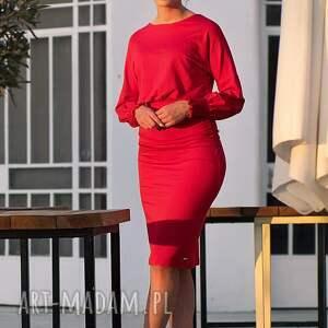 długi-rękaw sukienki sukienka olówkowa z luźną górą i