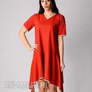przewiewna sukienki bawełniana sukienka z dłuższymi