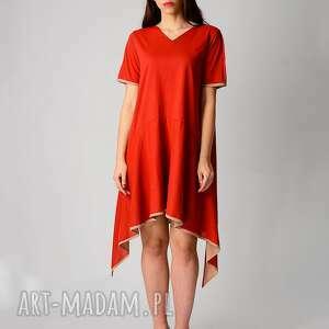 sukienki red bawełniana sukienka z dłuższymi