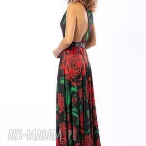 czarne sukienki awangardowa bella - królowa róża