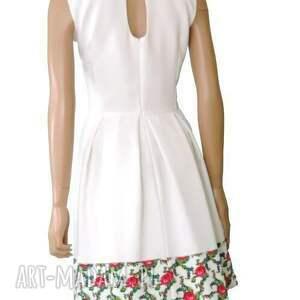 wyraziste sukienki sukienka biała z kontrafałdami