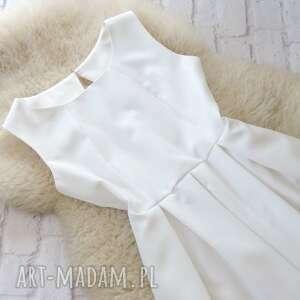biała sukienki sukienka kontrafałdy góralska