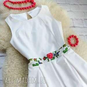 białe sukienki sukienka biała z kontrafałdami