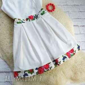 sukienki sukienka biała z kontrafałdami